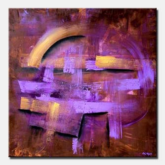 beautiful abstract painting lavender sunset