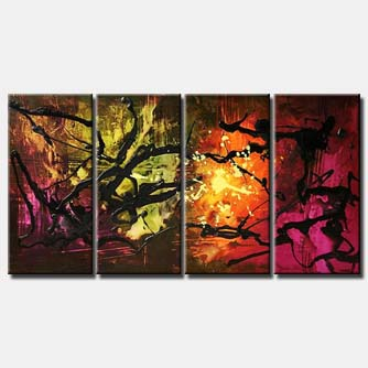 colorful splash art multi panel large abstract