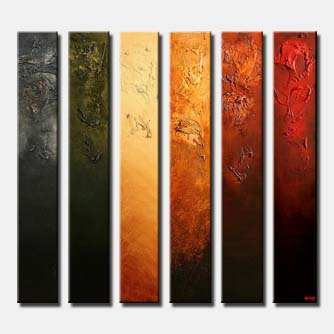narrow vertical canvases home decor multi panel