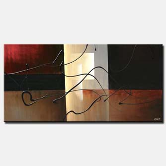 abstract in black red and brown eclipse