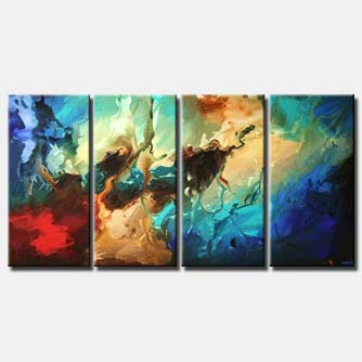 colorful reef modern seascape multi panel