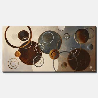infinity circles in brown tones geometric