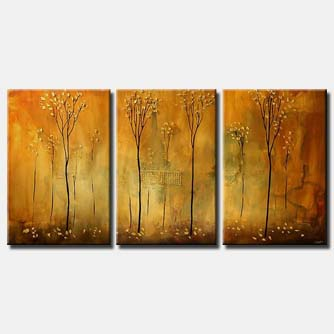 narrow trees on triptych monochromatic