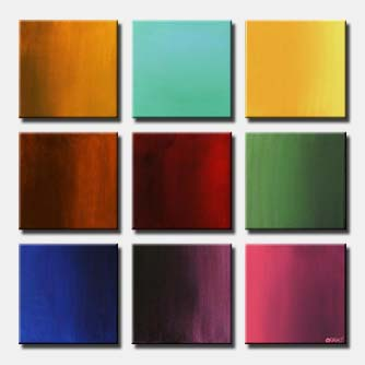 multi panel canvas solid colors colorful floavors