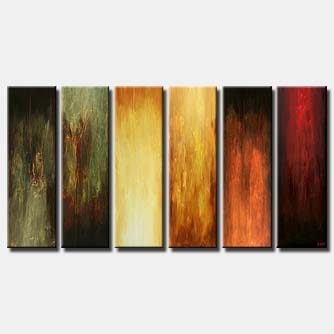multi panel large modern painting vertical