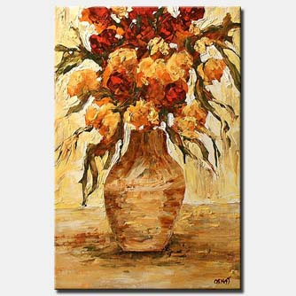 vase with flowers floral morning summer