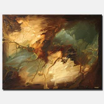 large brown contemporary abstract land