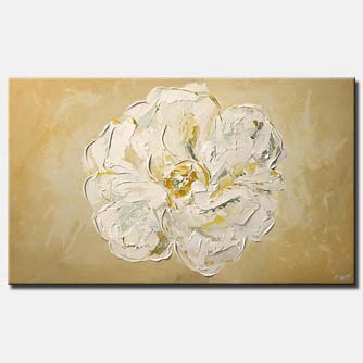 large white flower minimal floral home decor