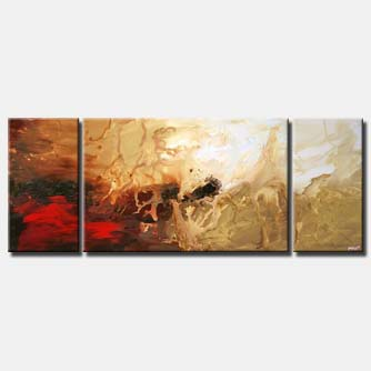 triptych modern painting home decor soft