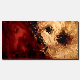 large red and gold modern abstract
