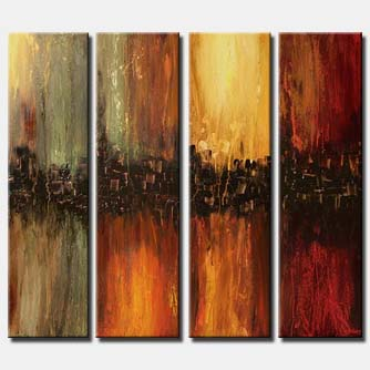 multi panel modern home painting