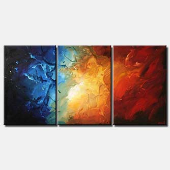colorful triptych modern painting home decor