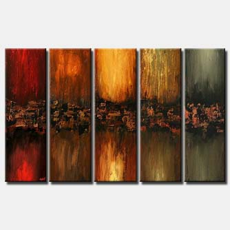 multi panel modern wall decor vertical colorful