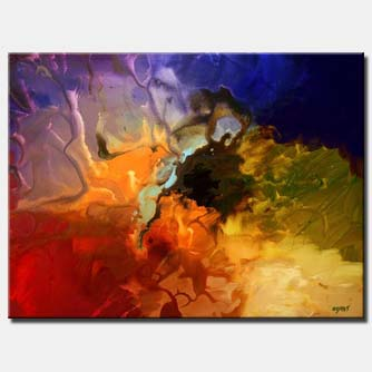colorful modern painting large painting decor
