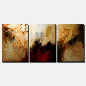 large modern painting red and brown