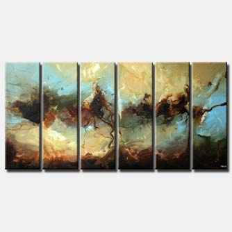 multi panel abstract decor painting splash