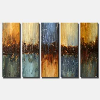 modern vertical panels painting multi panel