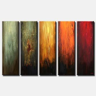 multi panel contemporary wall decor vertical