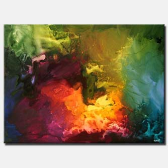 colorful abstract painting spirit splash