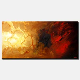 large horizonal modern painting abstract art
