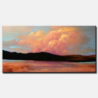 clouds landscape painting east home decor