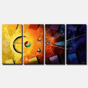 colorful pool table painting multi panel
