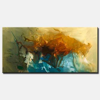 horizontal modern decor painting colorful