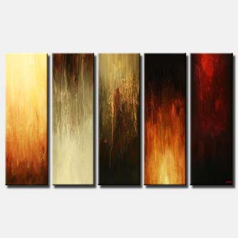 multi panel wall abstract vertical colorful