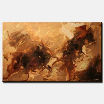 abstract painting in brown tones  monochromatic