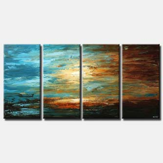 multi panel abstract landscape decor