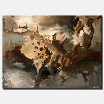 brown gray abstract painting clouds soft