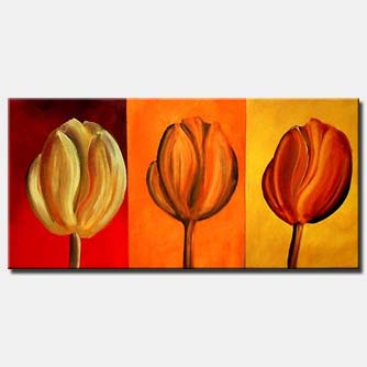 coloorful tulips painting