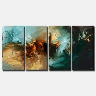 multi panel canvas abstract painting