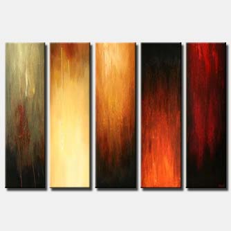 multi panel abstract home decor painting