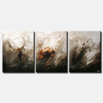 modern home decor painting  triptych