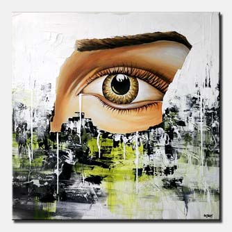 abstract painting human eye modern visions