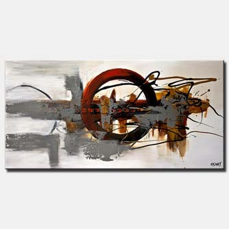 modern splash art large abstract circle