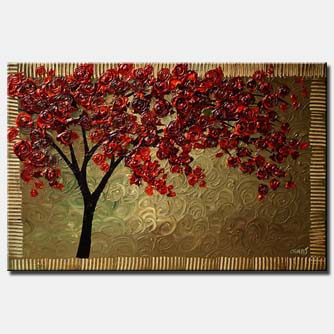 a cherry tree painting