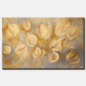 yellow tulips in soft colors