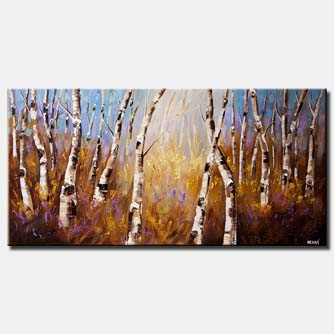enchanted forest of birch trees