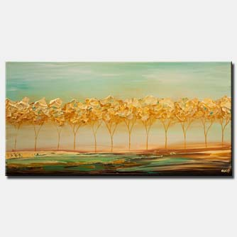 abstract landscape tree painting