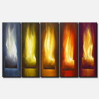 canvas print of flames on fire