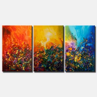 canvas print of flowers all around