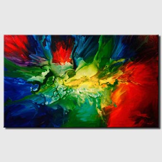 canvas print of bold colorful modern painting