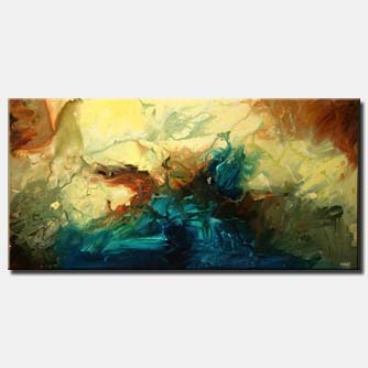 canvas print of large modern wall decor