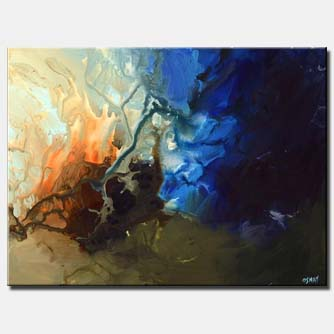 canvas print of blue modern art