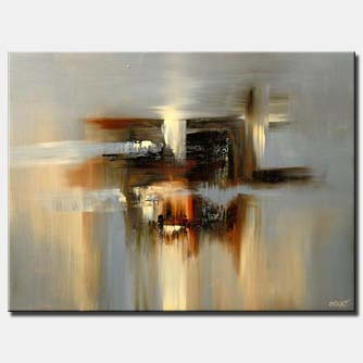 canvas print of gray modern abstract painting