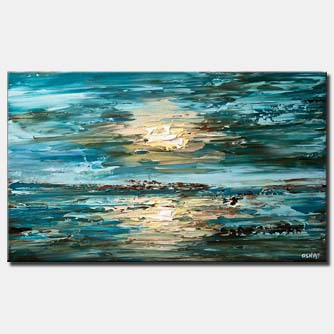 canvas print of abstract painting of the sea