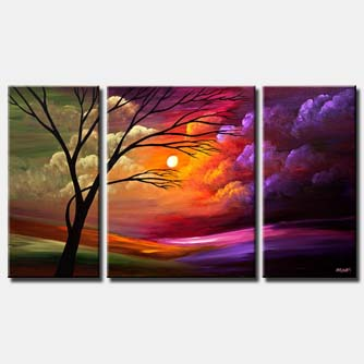 canvas print of colorful sunset
