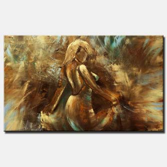 canvas print of woman dancing